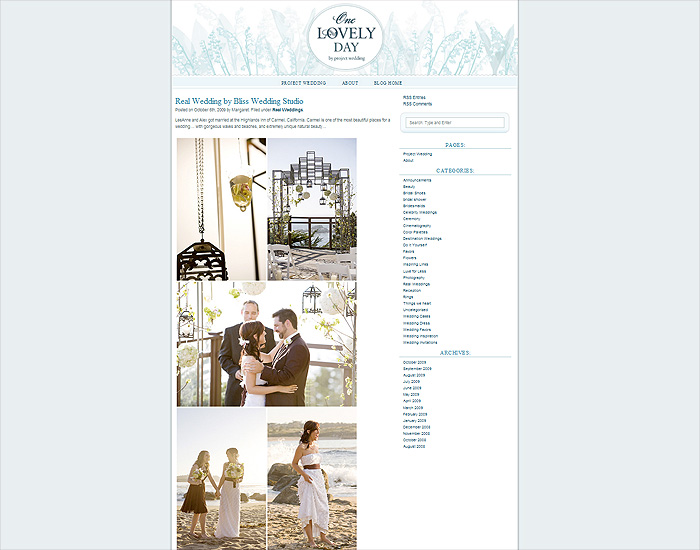 One Lovely Day by Project Wedding